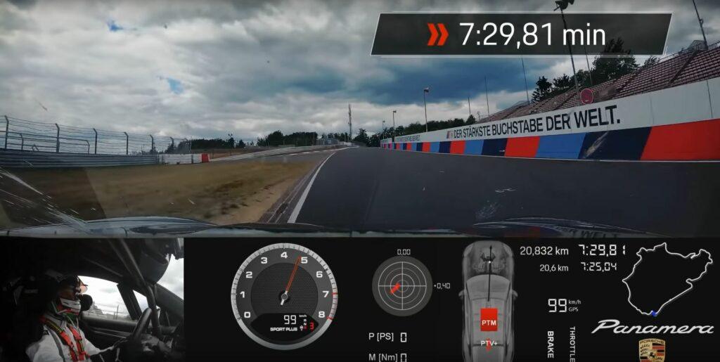 2021 Porsche Panamera Turbo lap record