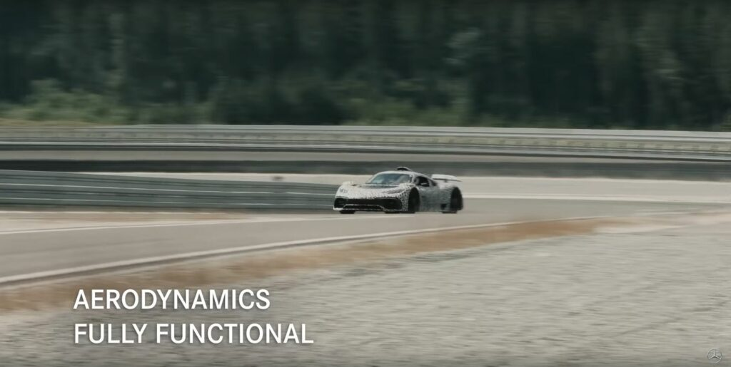 Mercedes-AMG One on track