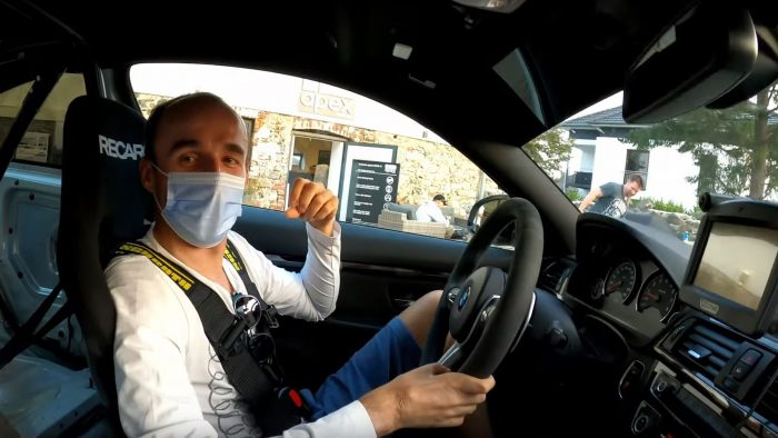 Robert Kubica driving an M4