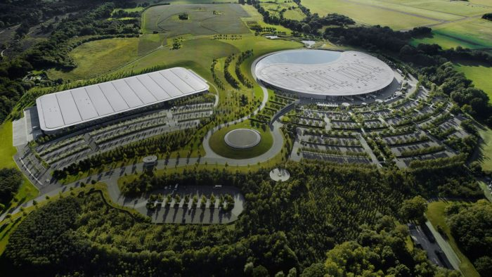 McLaren Automotive and Formula 1 buildings