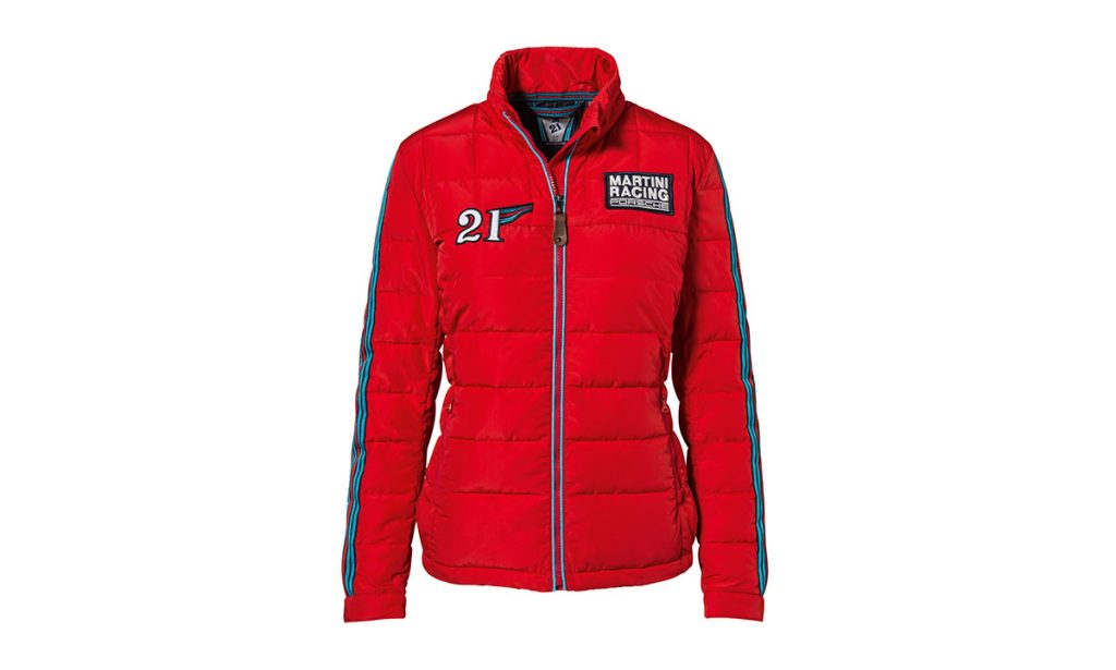 Front view of Porsche Driver's Selection Martini Racing Jacket