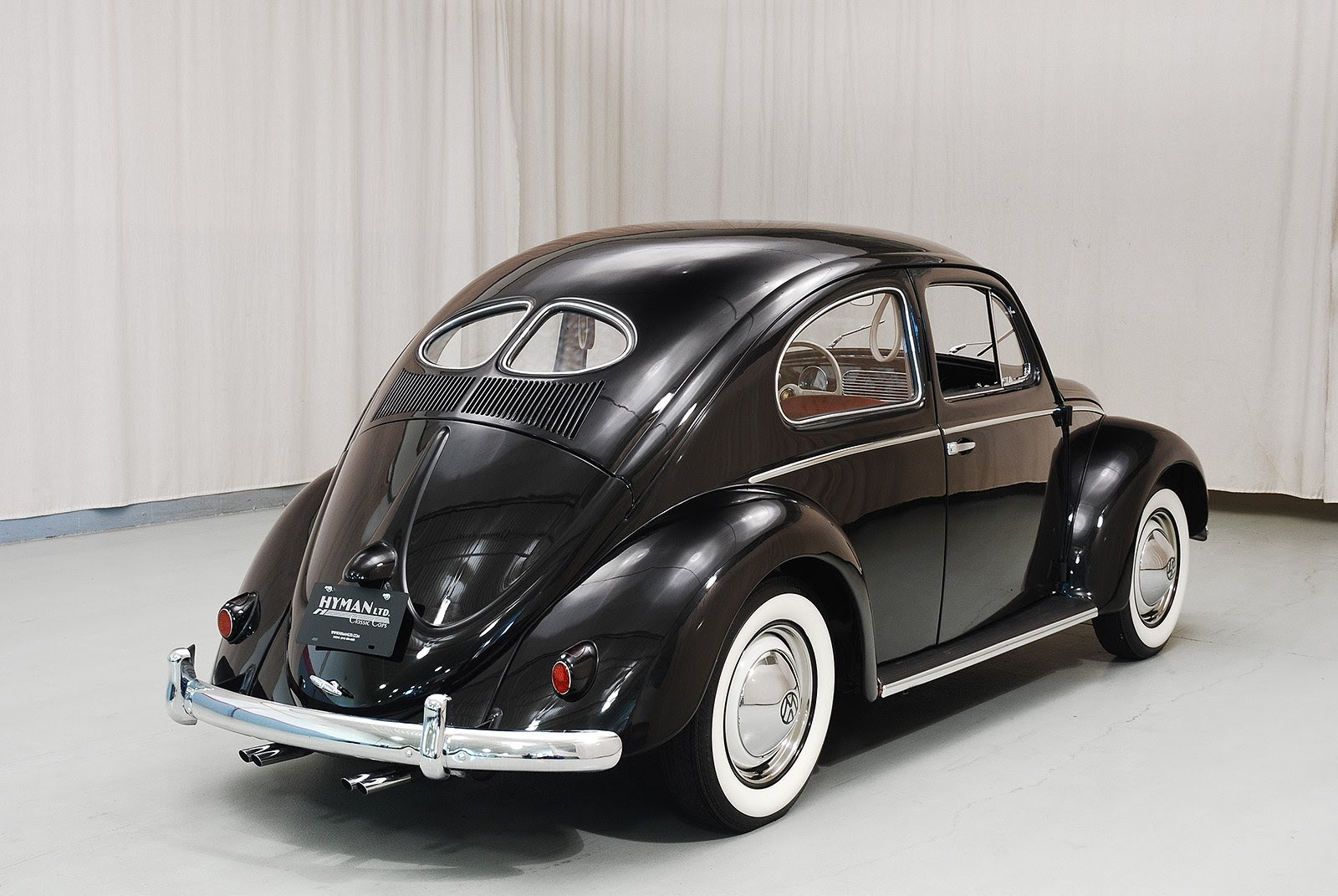Black 1952 Volkswagen Zwitter Beetle