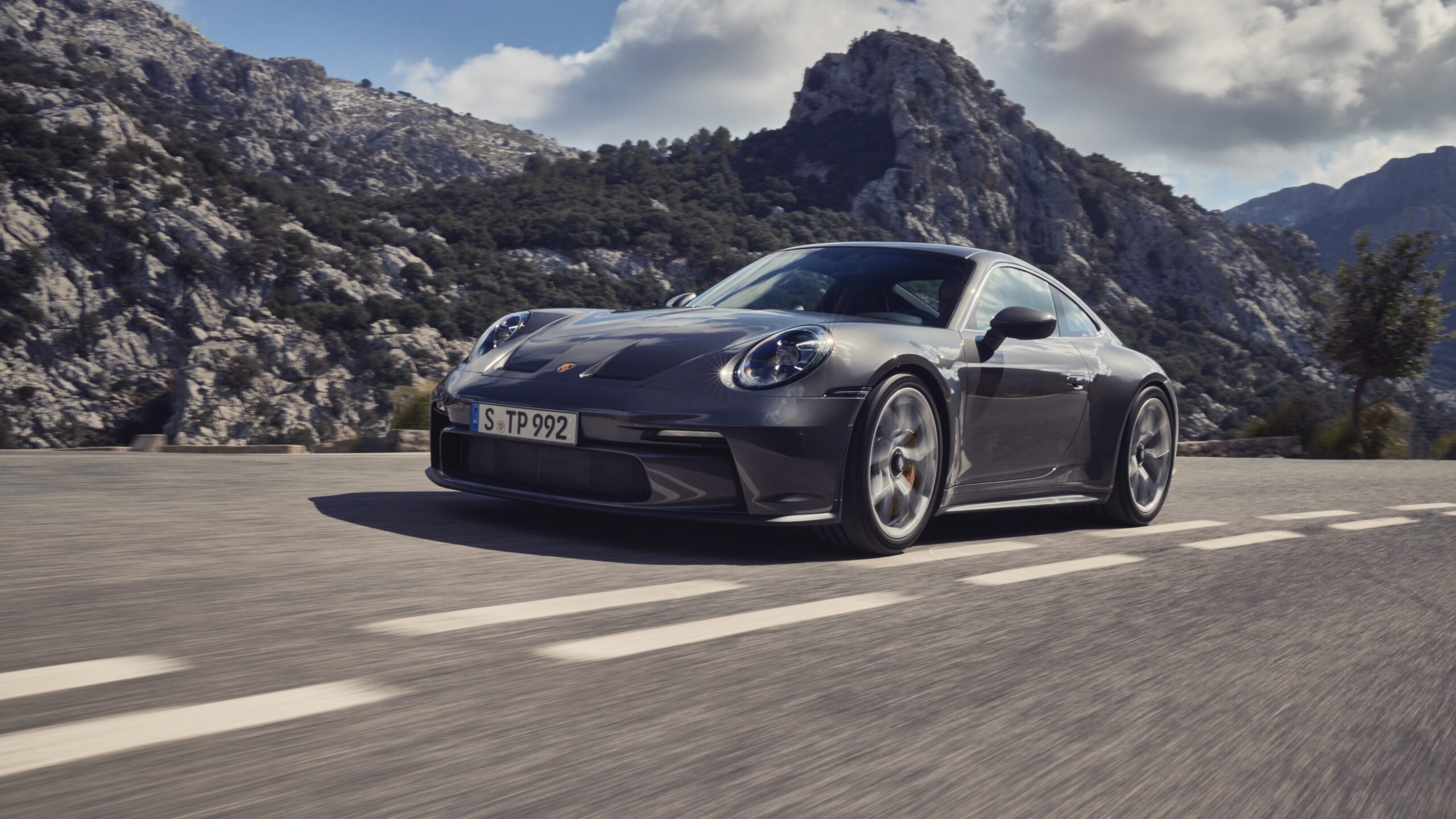 2021 Porsche 911 GT3 Touring Driving In The Mountains
