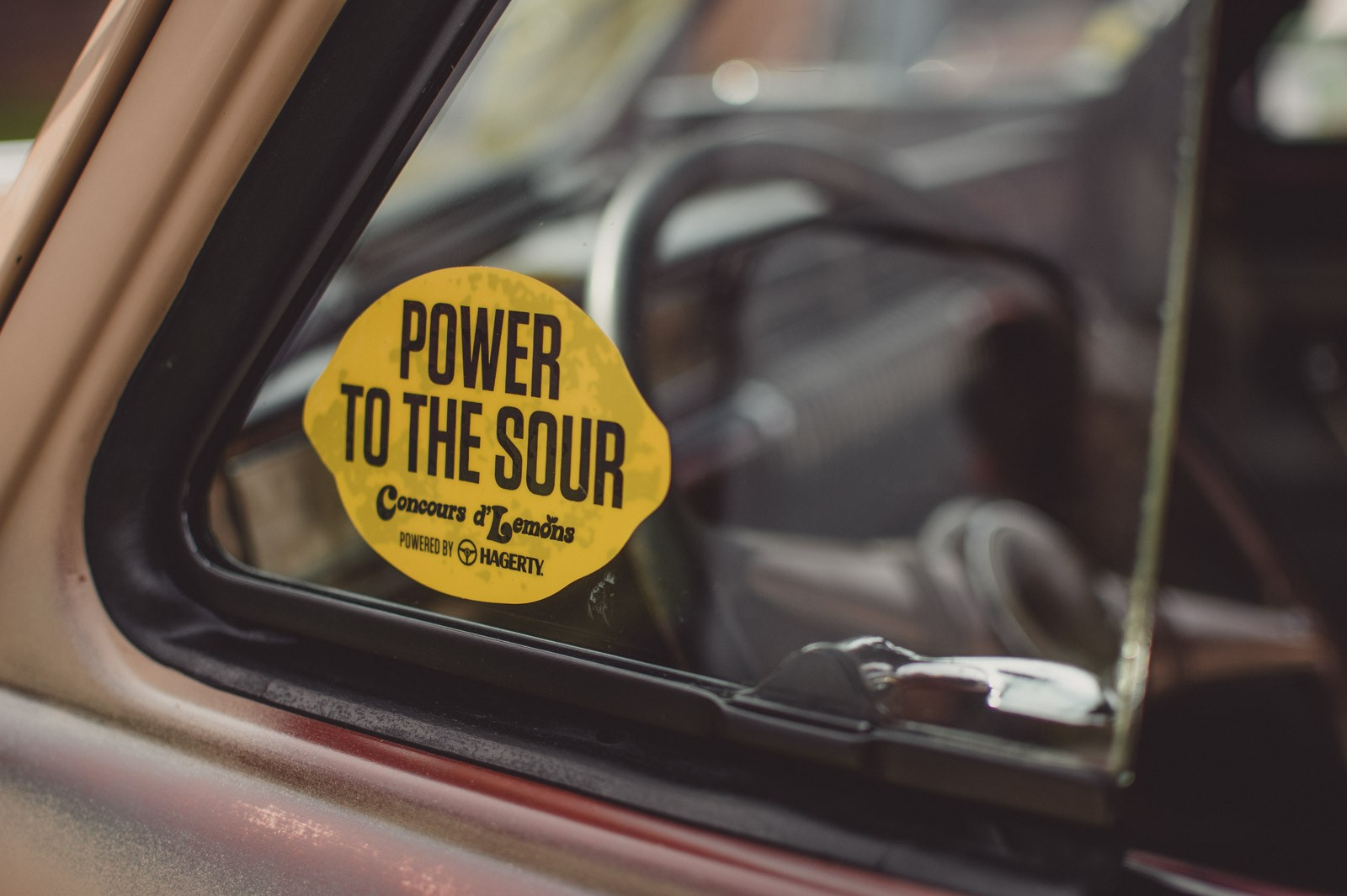 Power to the sour decal on side window of a car
