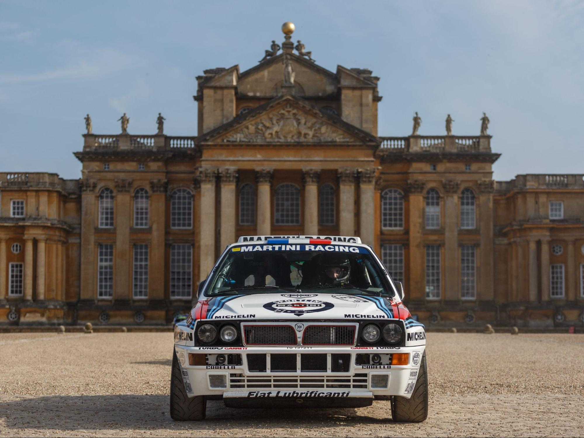 Lancia Delta Integrale GrA as part of the tribute to World Rally Champions