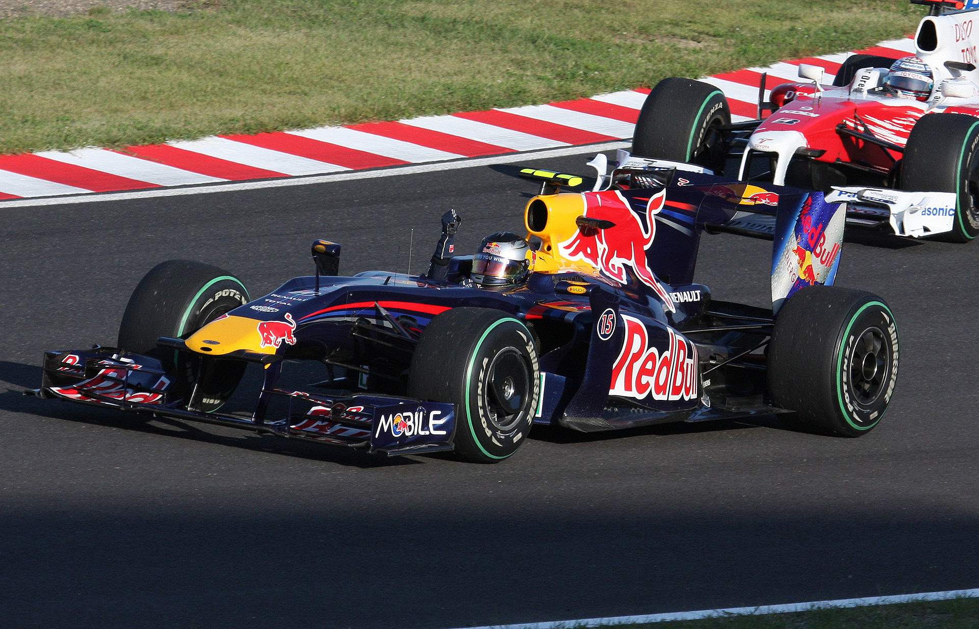 2009 Japanese Grand Prix, Red Bull RB5 equipped with KERS unit, wikimedia